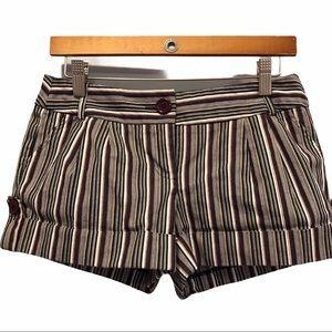 Xoxo women's navy striped denim shorts size 8